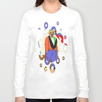 clown Long Sleeve T-shirts featuring clown by Karl-Heinz Lüpke