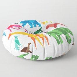 Paper Animals Floor Pillow