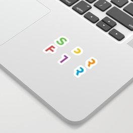 SPRFTR Rainbow Graphic Sticker