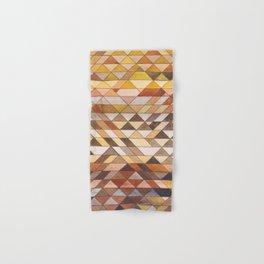 Triangle Pattern Fall Colors Hand & Bath Towel