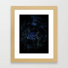 Galaxy Forest Framed Art Print