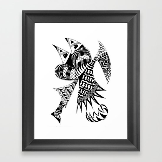 Ubiquitous Bird Framed Art Print