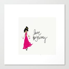 Love The Journey Girl in Pink Canvas Print