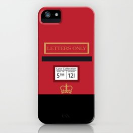 Red Post Box iPhone Case