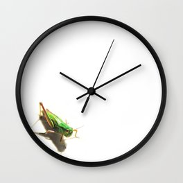 Insect Portrait | Grasshopper Wall Clock