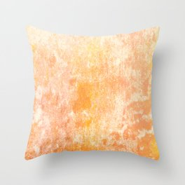 Marbling structur in warm orange tones Throw Pillow