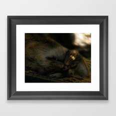 go away. Framed Art Print
