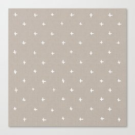 Pattern - crosses on beige/brown background Canvas Print