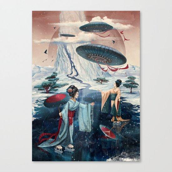 Holiday ice Canvas Print