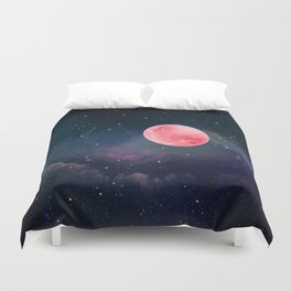 Pink Moon Duvet Cover