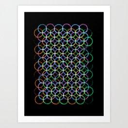 Circles of colours Art Print