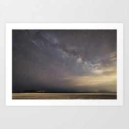 Shooting stars and the Milkyway Art Print