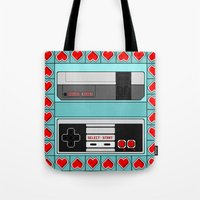 video game Tote Bags featuring Video Game Lover : NES by The Geek Inside Me