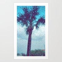 Tree Palm Drop Art Print