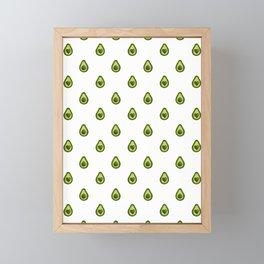Avocado Hearts (white background) Framed Mini Art Print