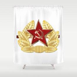 Soviet Cap Badge Shower Curtain