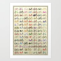 brompton Art Prints featuring Bikes by Wyatt Design