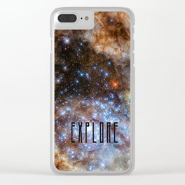 Explore - Space and the Universe Clear iPhone Case