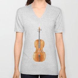 Cello - Watercolors Unisex V-Neck