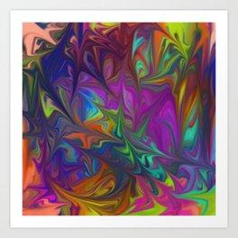 Colors Abstract Fantasy Art Print
