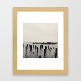 A Bay in Maine Framed Art Print