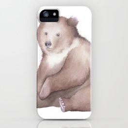 Bear Watercolor iPhone Case