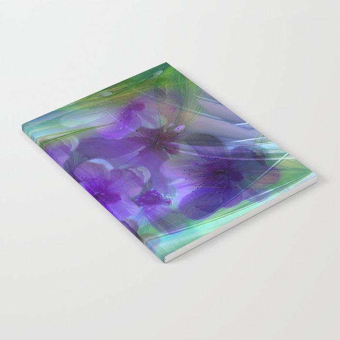 Violet Flower Garden Abstract Notebook