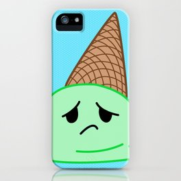 Sad Food - Oopsy Daisy Ice Cream by Squibble Design iPhone Case