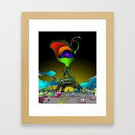 Eiffel Flower Framed Art Print