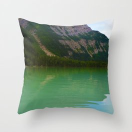 Kinney Lake in Mount Robson Provincial Park, British Columbia Throw Pillow