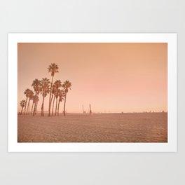 Santa Monica Orange Art Print