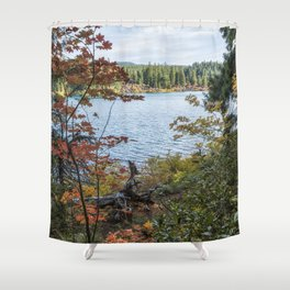 Splashes of Color Around Clear Lake Shower Curtain