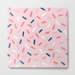 Blush Candy Rain Metal Print
