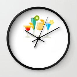 Just Add Liquor Mixed Drinks Partying Bartender T-Shirt Wall Clock