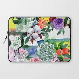 Breathtaking Colorful Watercolor Floral Print Laptop Sleeve