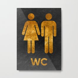 toilet sign men woman wc Metal Print