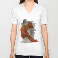robert farkas V-neck T-shirts featuring Ode to Robert Farkas by Brown Paper Bunny