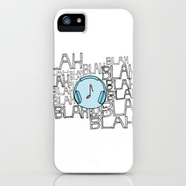 The power of music to cut through the noise iPhone Case