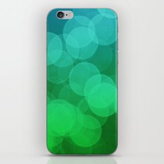 Blue Green Ombre Bokeh iPhone & iPod Skin