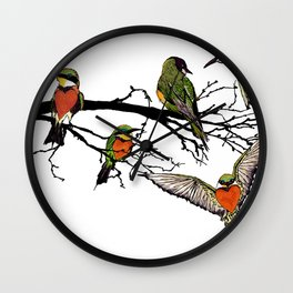 bee-eaters Wall Clock