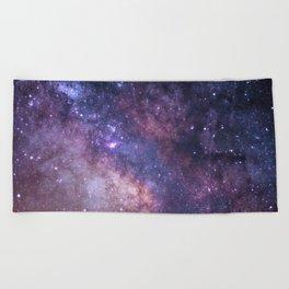 Purple Galaxy Star Travel Beach Towel