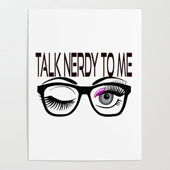 Geek love card Talk nerdy to me.