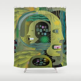 Race Against Time Shower Curtain