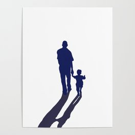 Walking together - hand in hand Poster