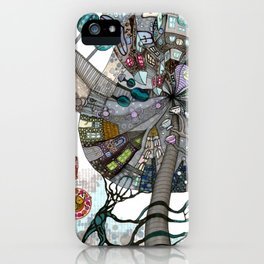 """I'ts always a tea time"" illustrated print iPhone Case"