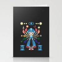megaman Stationery Cards featuring MegaMan Shrine by MattBlanksArt