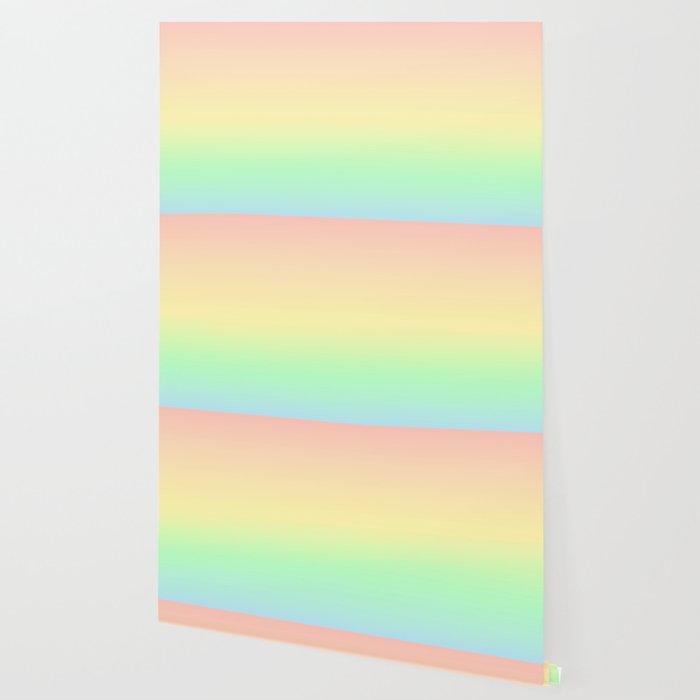 Pastel Rainbow Pattern Wallpaper