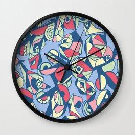 Geometric pastels Wall Clock