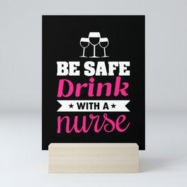 Wine nurse wine glass of red wine Mini Art Print
