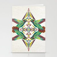 hummingbird Stationery Cards featuring hummingbird  by Manoou